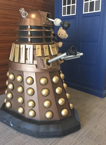 Firebird Ted with a Dalek