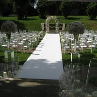 Wedding set up at The Grove