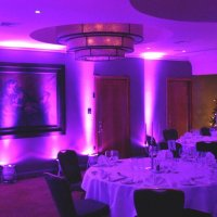 Magenta Uplighters at Four Seasons Hotel