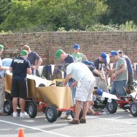 Wacky kart racing team building activity