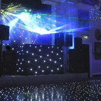 Black DJ booth at Wentworth Golf Club