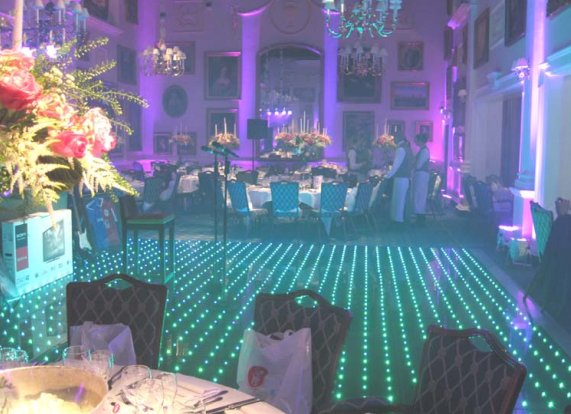LED Dance floor at Wentworth
