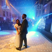 White LED Dance floor at Wentworth Golf Club