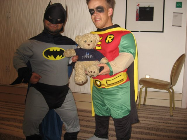 Firebird Ted with Batman and Robin!