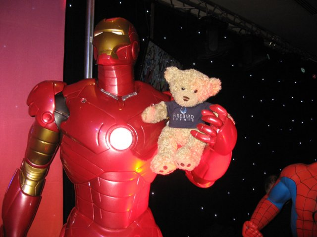 Firebird Ted with Iron Man!